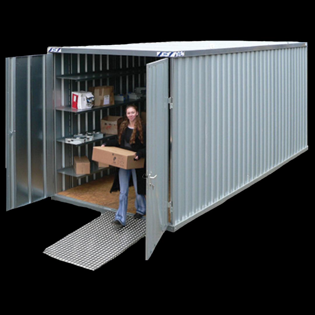 10 fots Quickbuild lager container. Kr 17900,-
