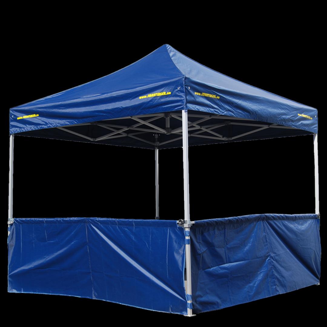 3 meters halv vegg til quick up telt inkl. alu rør. Kr 700,-