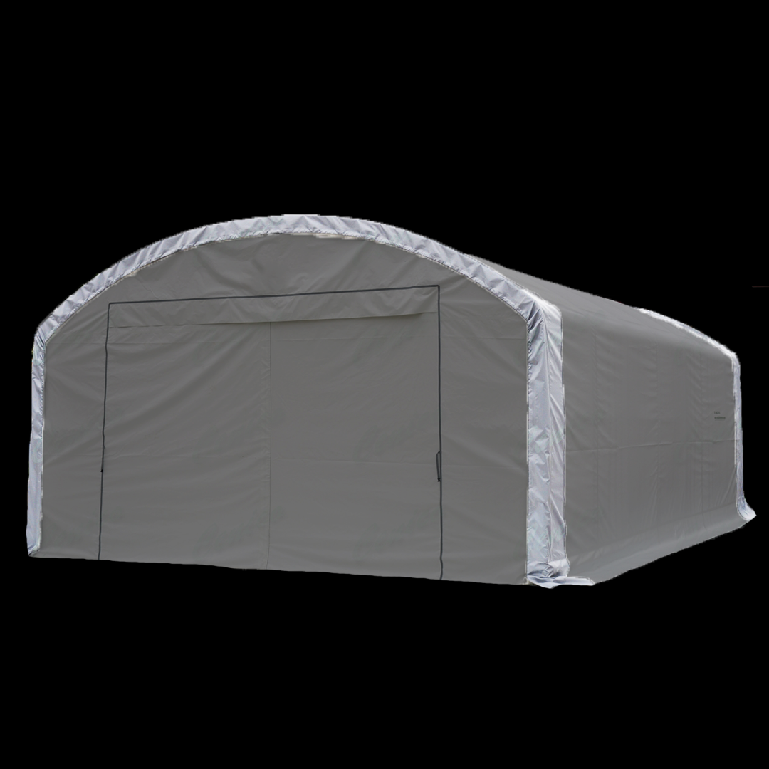18,3 x 7,6 x 4,6 meters telt. PVC duk. Kr 46900,-