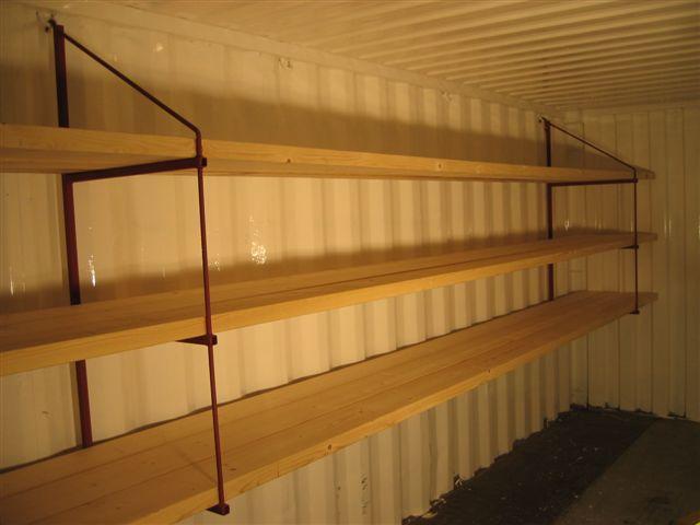 Hyllebraketter til container og lager. Kr 790 ,-