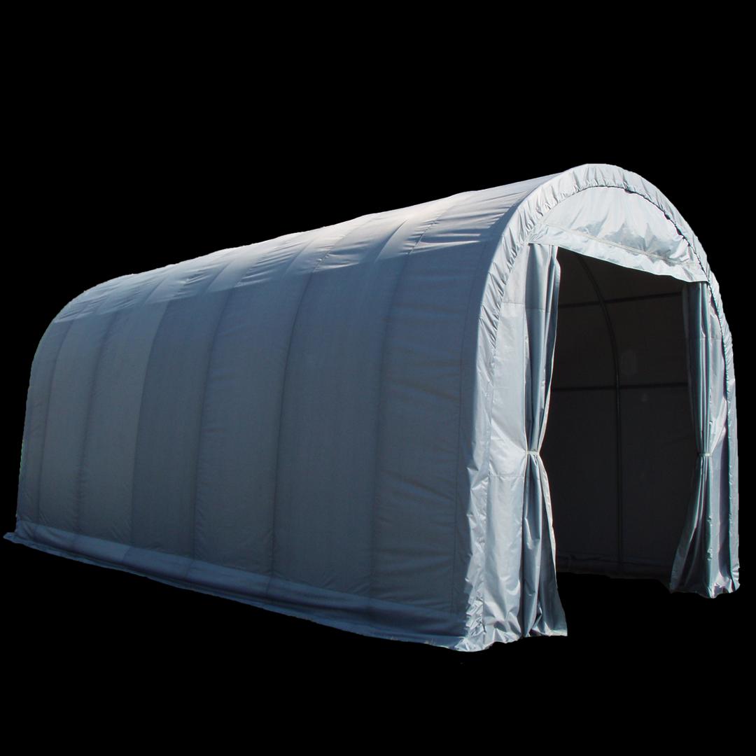 18,0 x 4,3 x 4,3 meters telt. PVC duk. Kr 41900,-