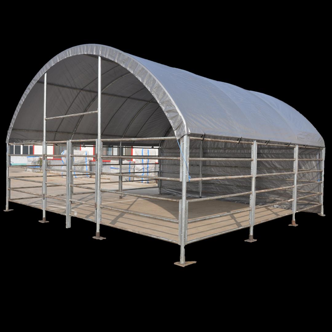6,0 X 6,0 X 3,7 meters telt. PVC duk. Kr 16900,-