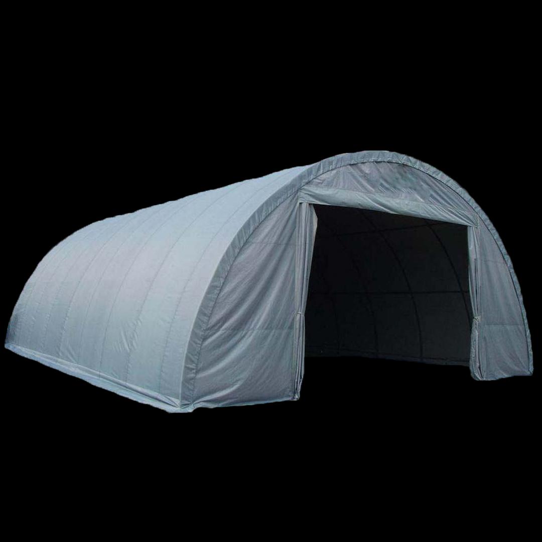 12,2 x 9,2 x 4,6 meters telt. PVC duk. Kr 62000,-