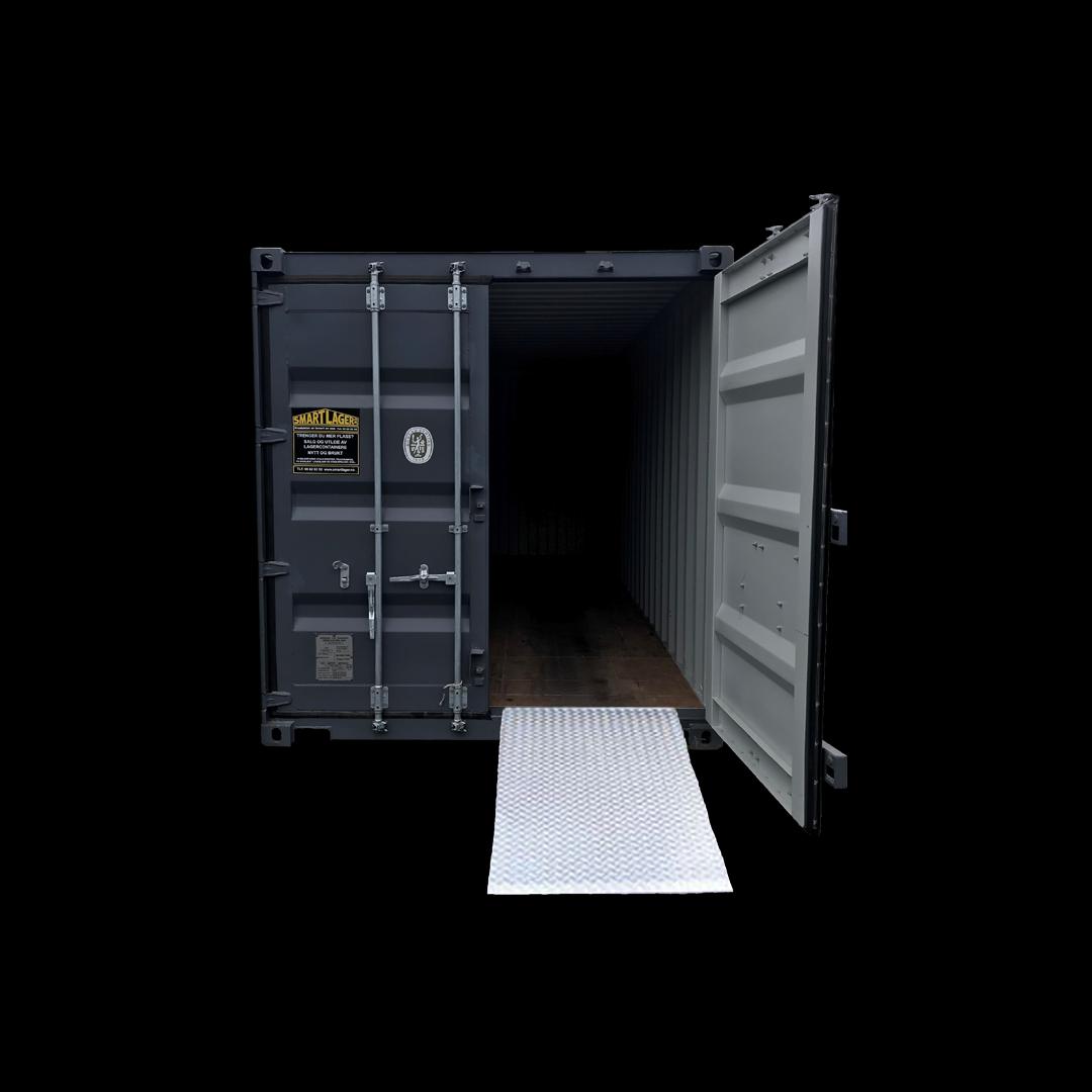 Kjørerampe i aluminium til din container eller bod. Kr 4000,-